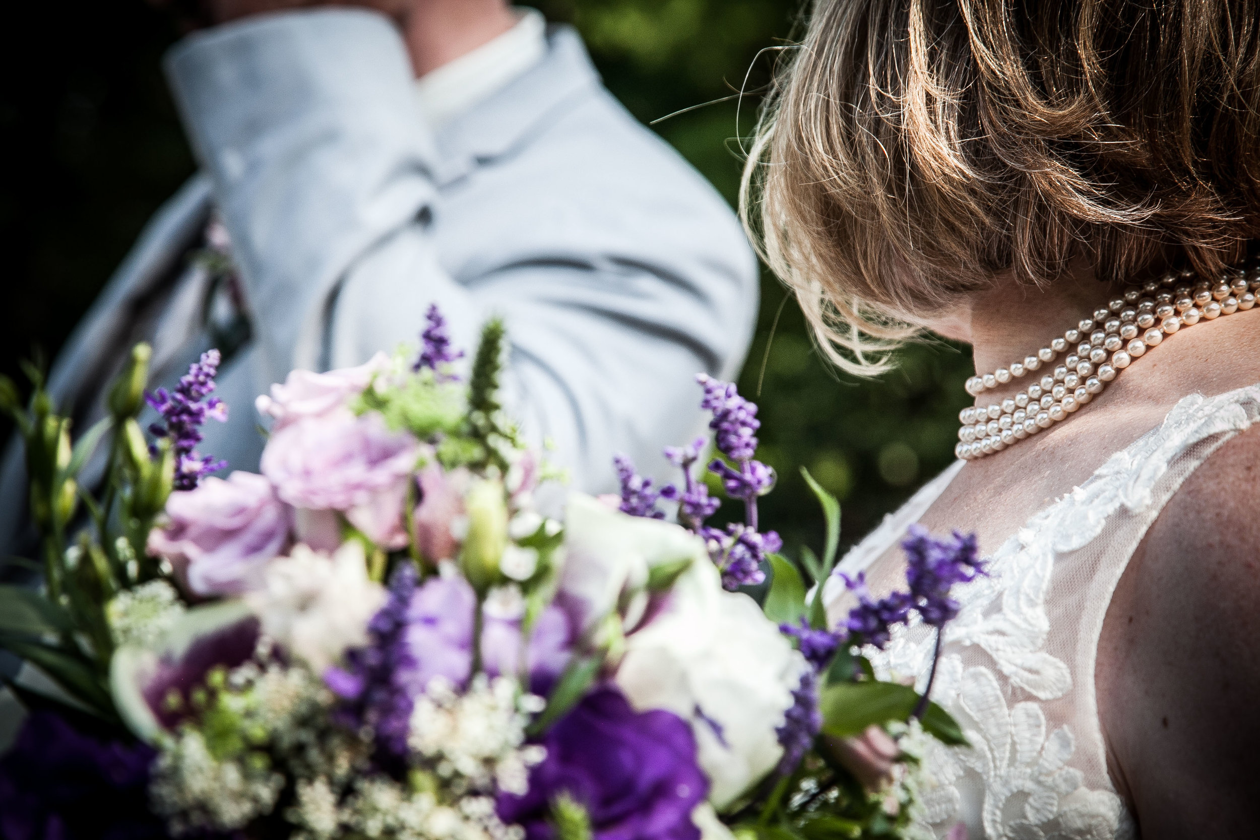 close up bride and groom half shot