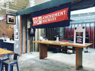 Future Site of The Periodic Table . Taproom and sake bar right there next to Shiba Ramen. Just put a hole in the wall to send over Shiba Wings. Photo of a recent beer event we had with 21st Amendment and Triple Voodoo B