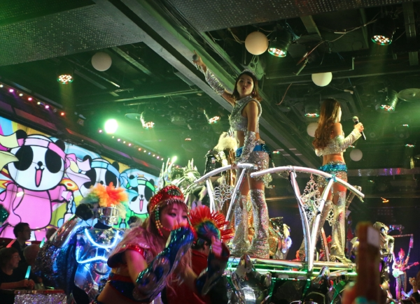 Robot Restaurant.   Crazy and totally worth it. Kabuki-cho. Tokyo.
