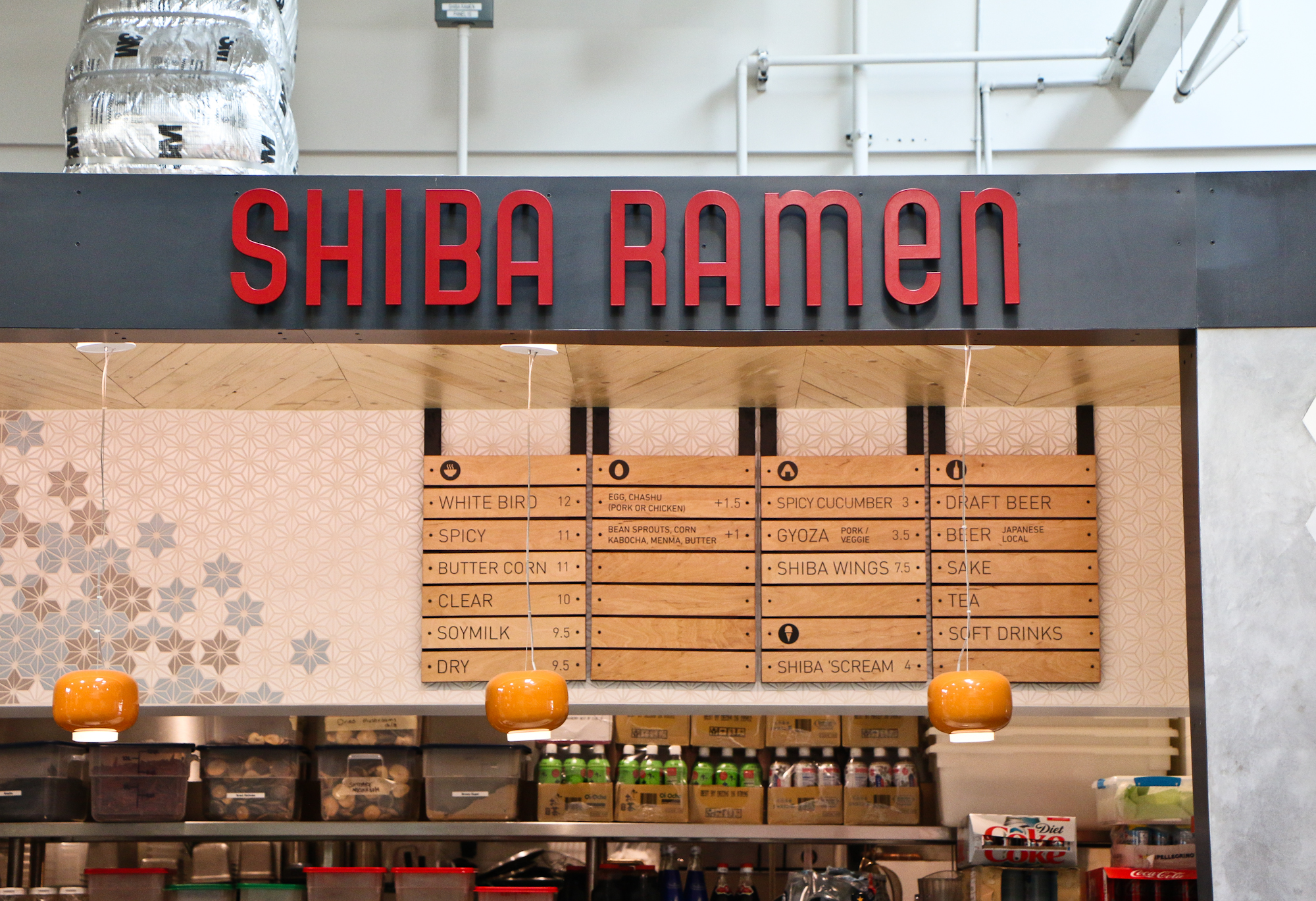 Prototype:  We're treating the original Shiba Ramen kiosk as setting the framework for the full restaurant design.