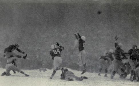 The Snow Bowl.  Michigan v. Ohio State, 1950.