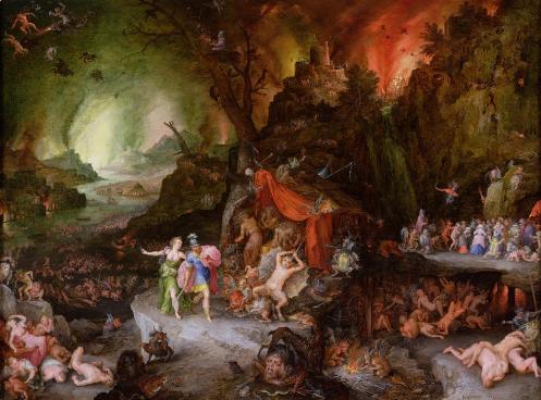 Tartarus.  Aeneas and the Sibyl in the Underworld . Jan Breughel, the Elder (1598)