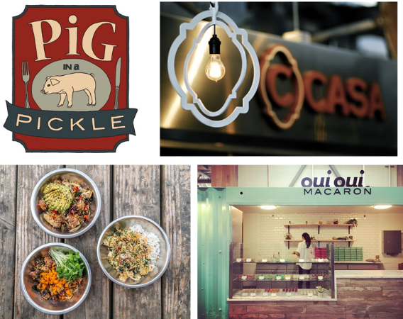 Great Food in Emeryville.  Pig in a Pickle opens soon.  C-Casa and Fish Face are recent additions. Chef Cat Li makes some incredible macarons at Oui Oui (photo credit evilleeye.com). Please come eat their food!