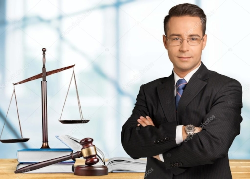 Handsome Caucasian Lawyer.  That's the actual name of this stock photo listed on the  Internet .