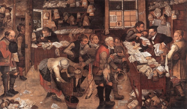 The Village Lawyer  . Pieter Brueghel the Younger (1621).
