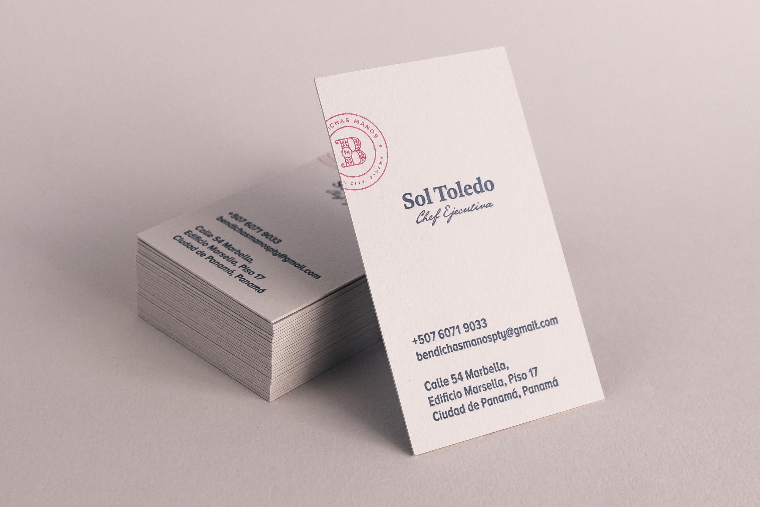 Digital and letterpress elements