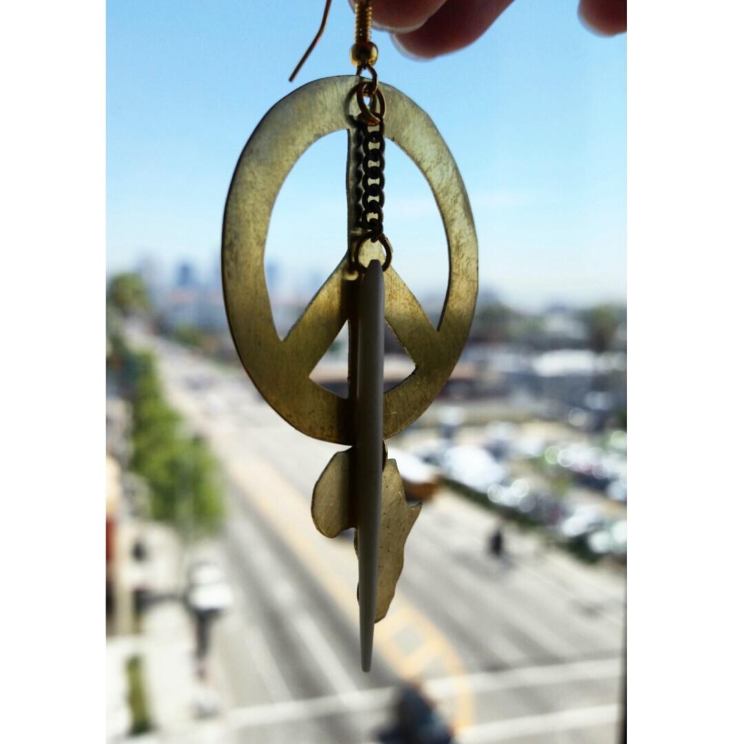 Africa Peace Earrings $20