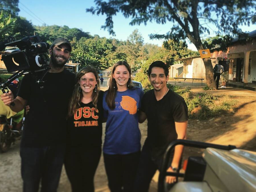 The crew on our last day of shooting! From right to left: Brandon, Kasey, Audrey, Richard