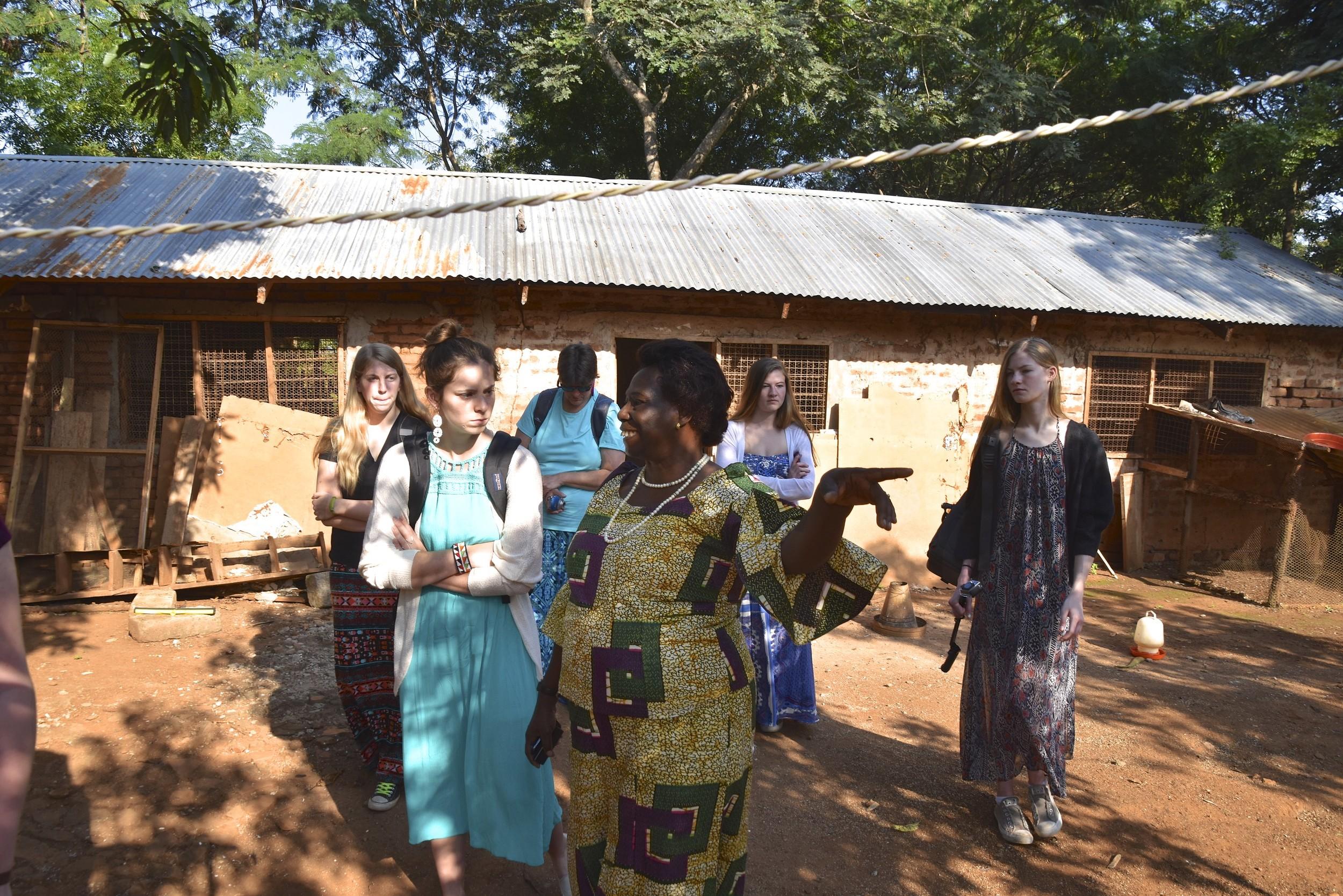 Audrey talking with Astridah in Morogoro, Tanzania