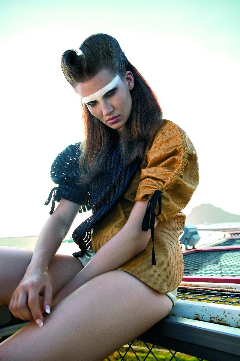 bug jacket short back stripeand   yellow leather combo.jpg