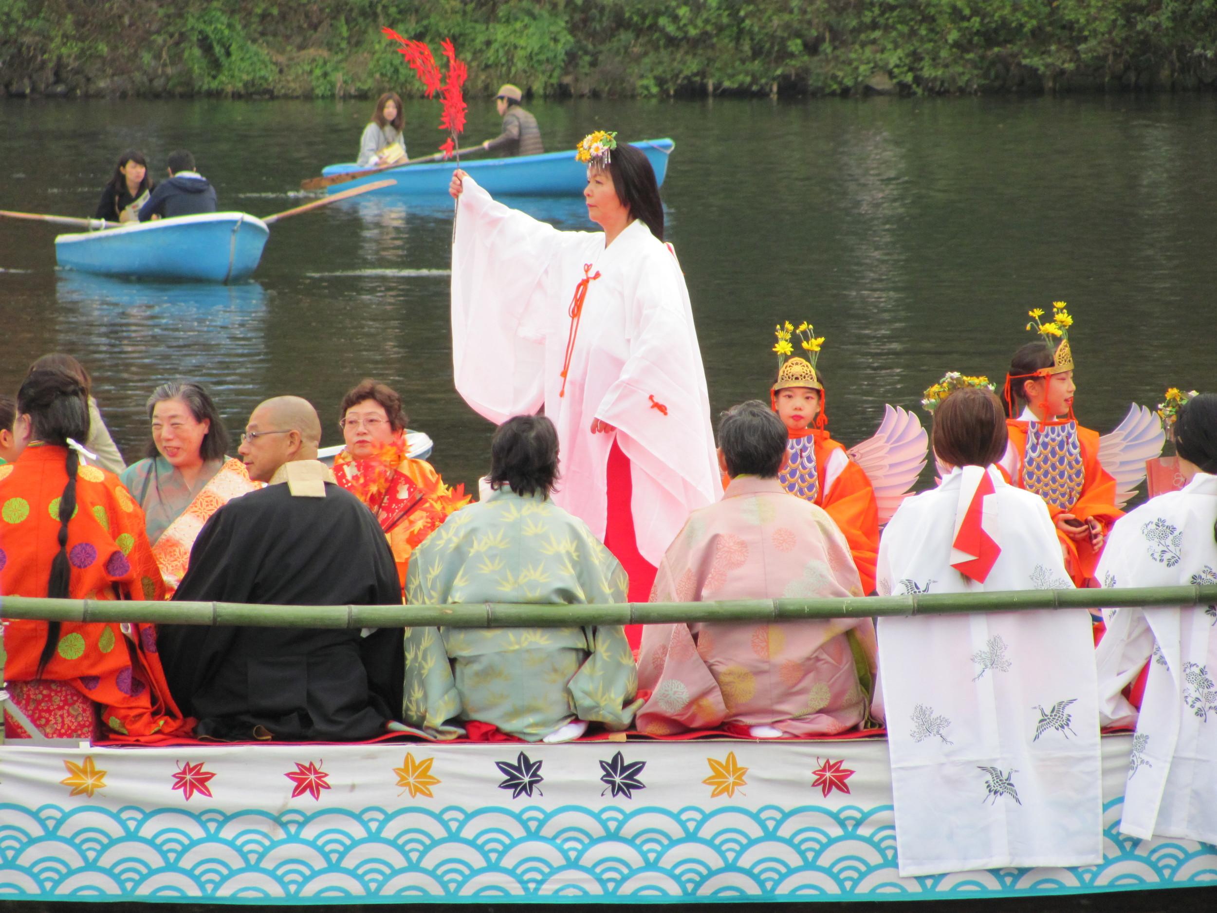 River boat festival, Kyoto, Japan
