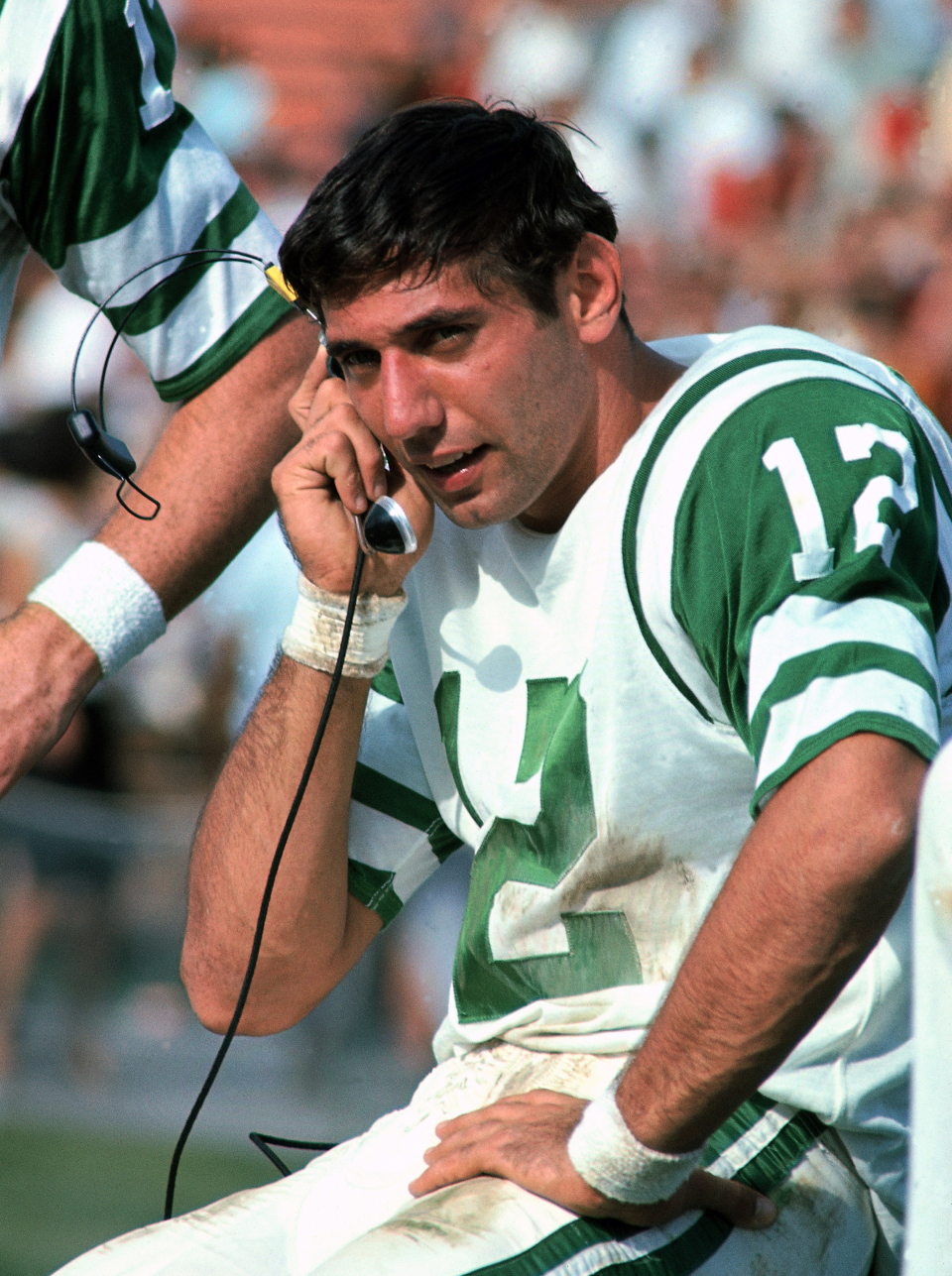 Broadway No!   Namath's career stats: 170 TDs, 220 Int, 50.1% completion