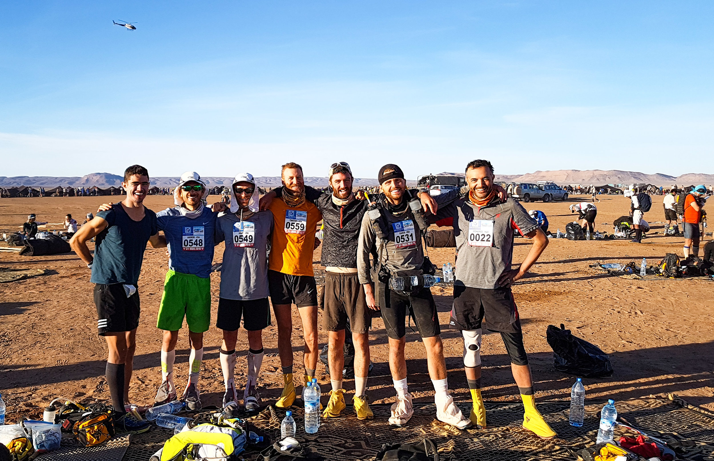 My Tentmates - A great group of guys from all over the world. Also notice the chopper in the background.