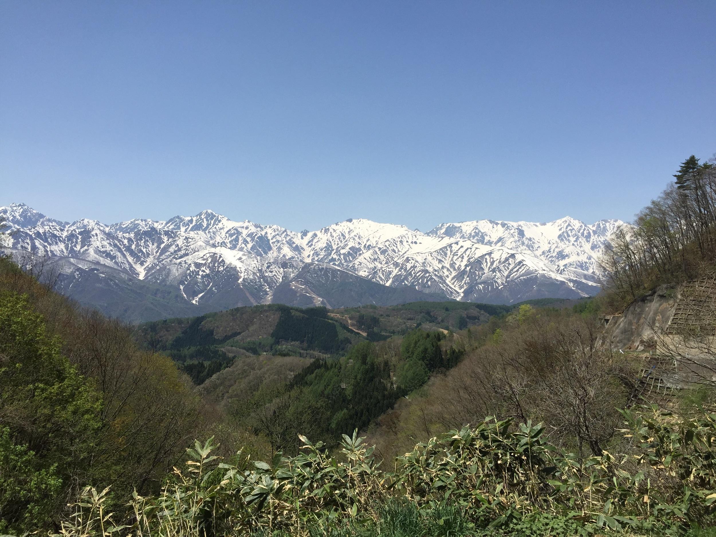 Hakuba valley from the old Nagano road