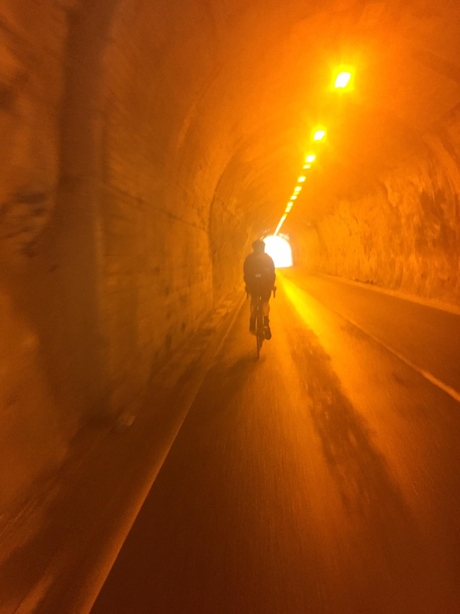 Jamie working one of the many tunnels up to Okutama