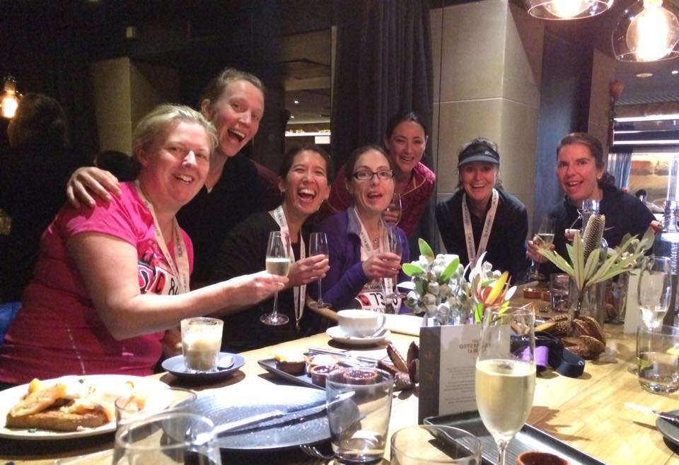 The BotR team following the Blackmores Bridge Run in September....this champagne thing is becoming a trend!