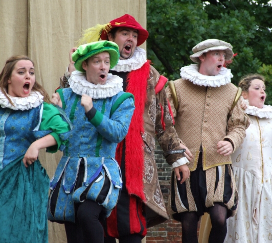 Illyria performing The Merry Wives of Windsor.