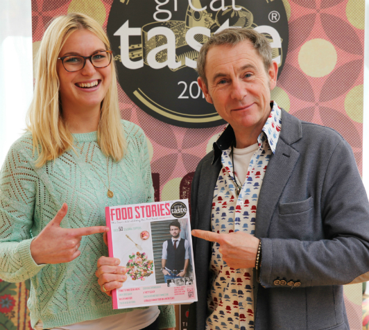 Nigel Barden and Sophie Austen-Smith, Deputy Food Editor at Time Inc.