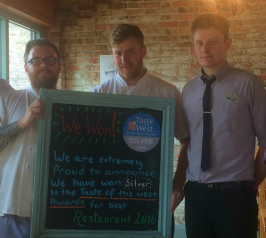 The Engine Room Restaurant team (L to R) Josh Maguire, senior chef, Daniel Vaughan, head chef and front of house manager and Dan Smith, supervisor.