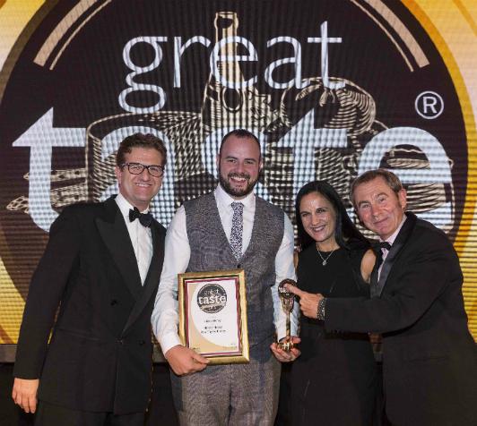 (L-R) John Farrand, Guild of Fine Food, Scott Davies of Hilltop Honey, Nicki Stewart of Diverse Fine Food and Nigel Barden.