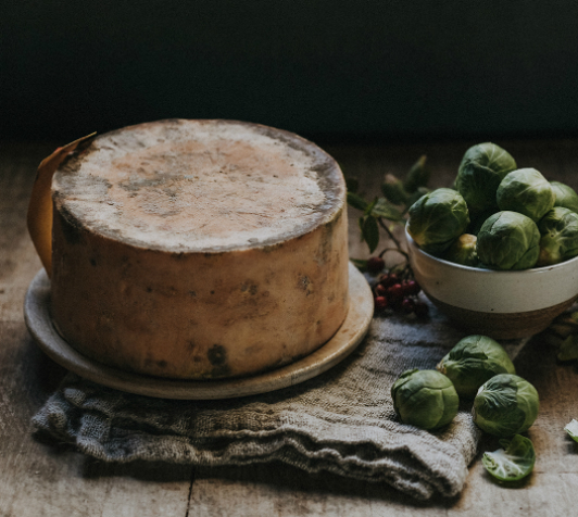 Cheese and sprouts