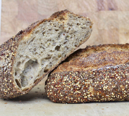 Einkorn and whey sourdough