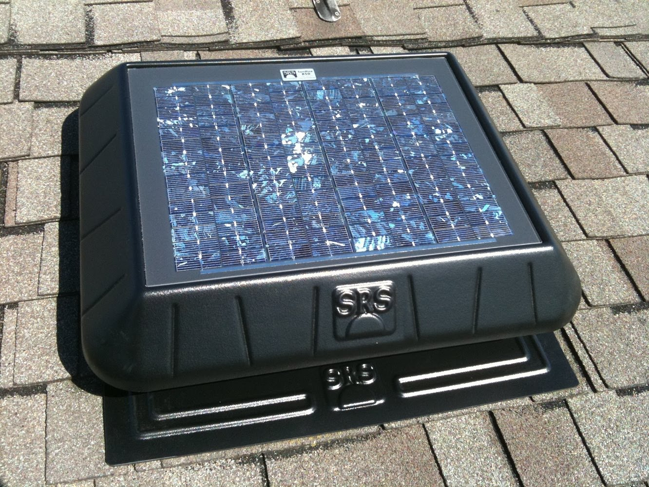 Solar Vent Roof Vent Stainless Steel Cover Solar Exhaust Fan
