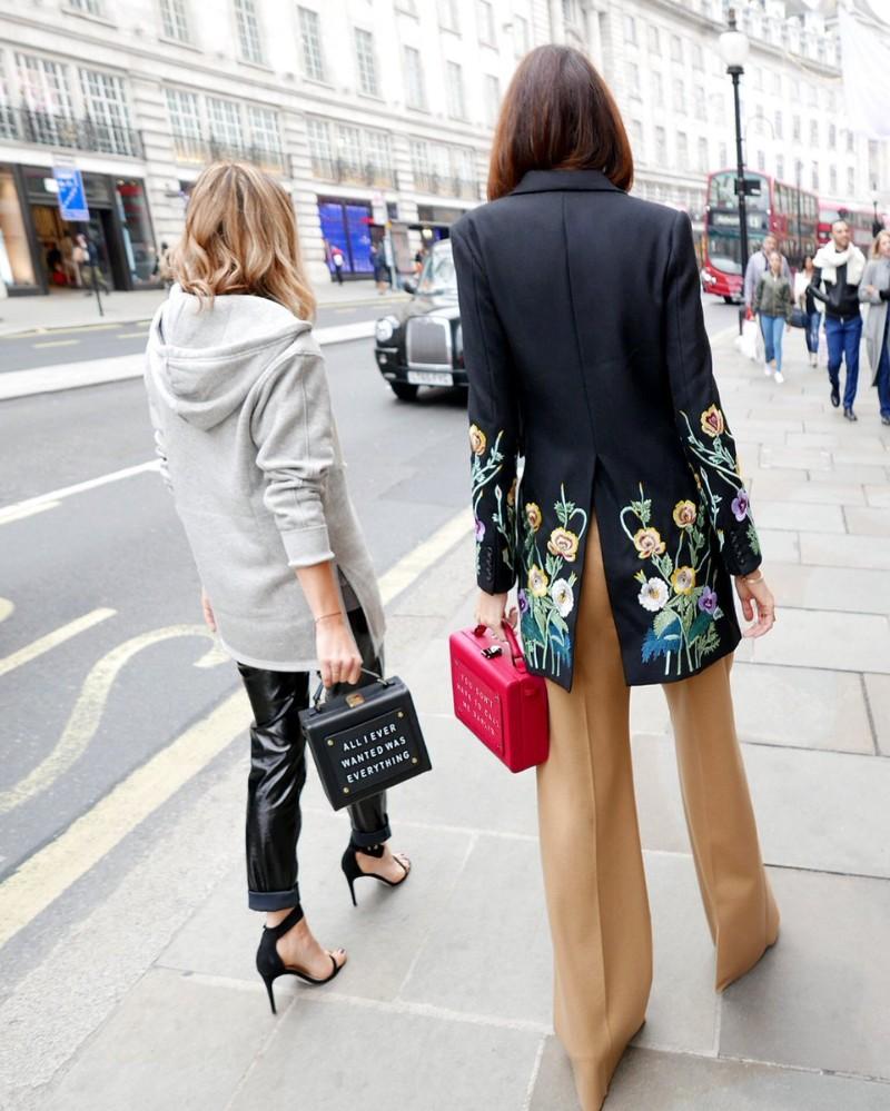 Olivia Steele x Meli Melo Art Bag Chic Women's Street Style