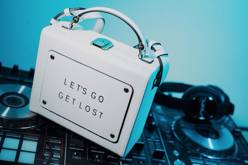 Olivia Steele x Meli Melo Art Bag Lets Go Get Lost White