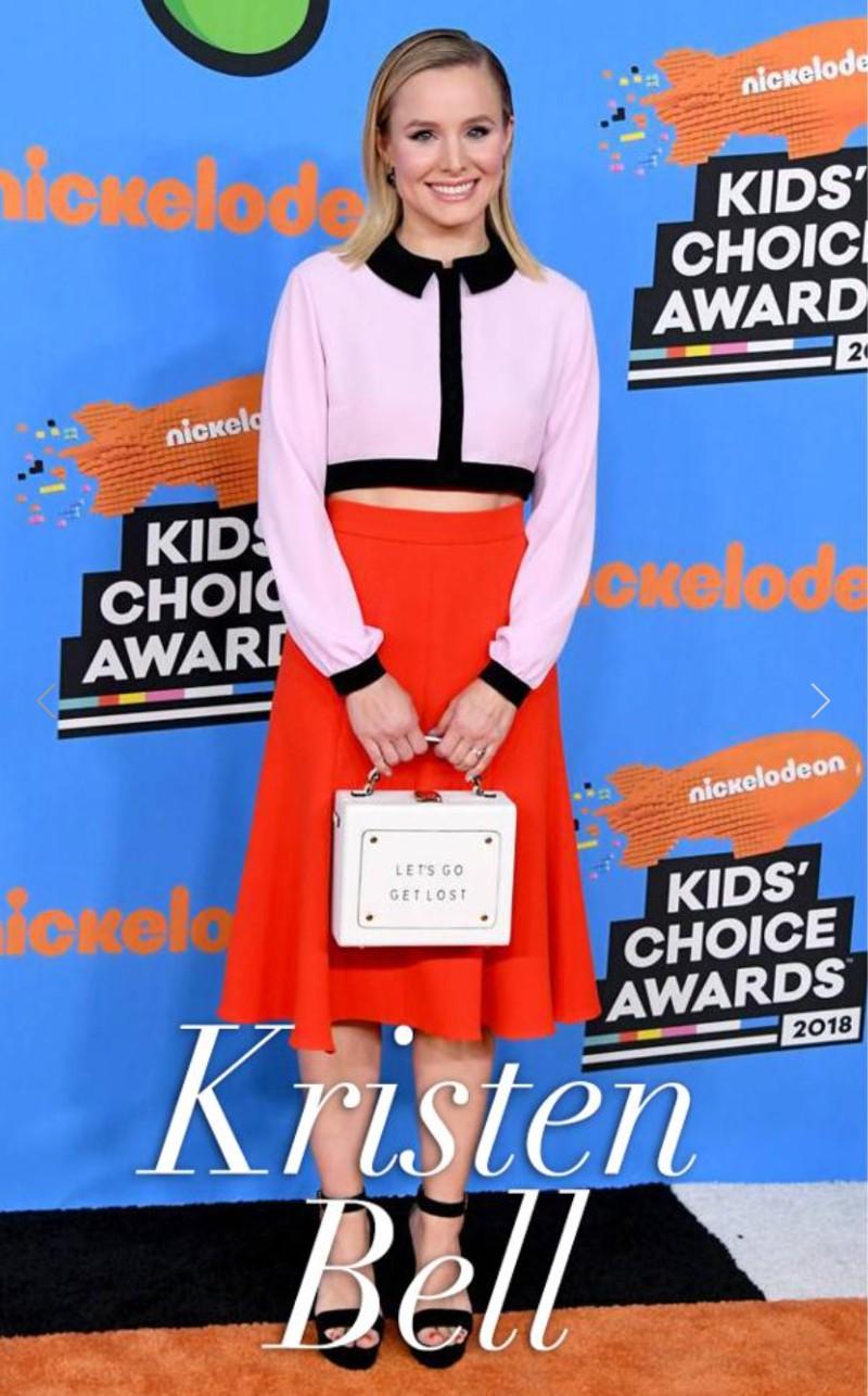 Olivia Steele x Meli Melo Art Bag Kristen Bell Celebrity Style