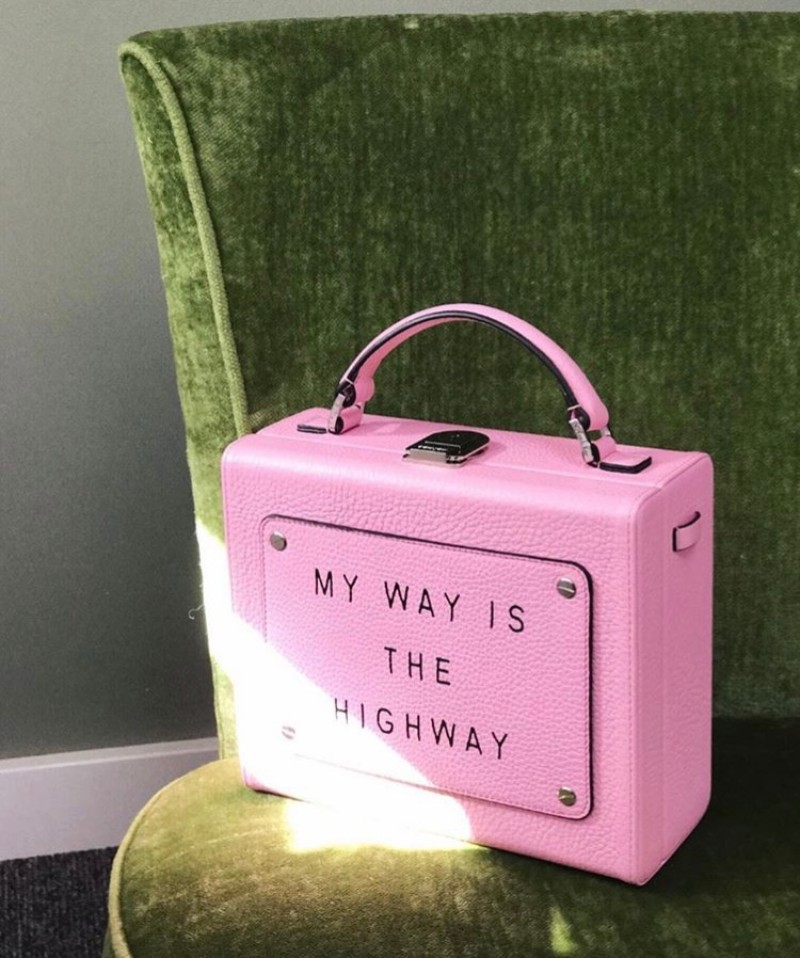Olivia Steele x Meli Melo Art Bag Pink My Way Is The Highway