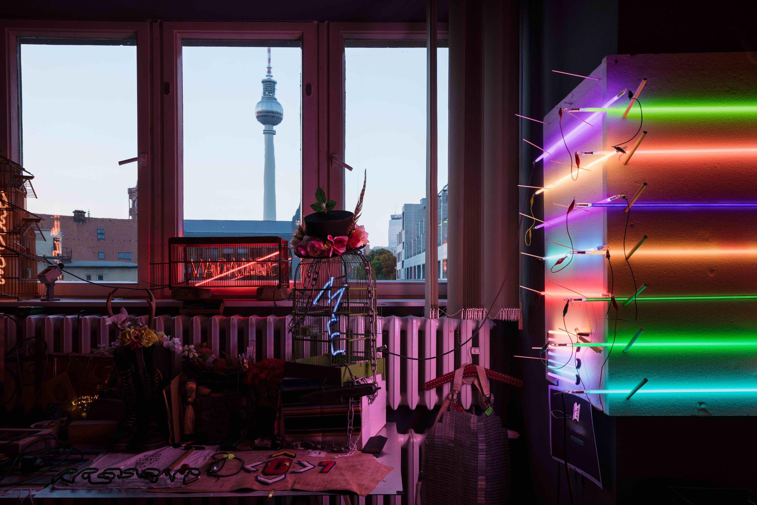 Olivia Steele Artist Studio Berlin Germany Neon TV Tower Alte Munze