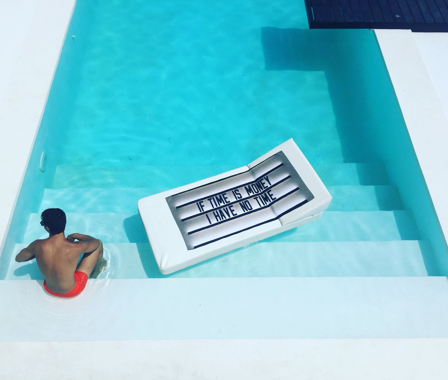 Olivia Steele If Time Is Money I Have No Time Pool Towel