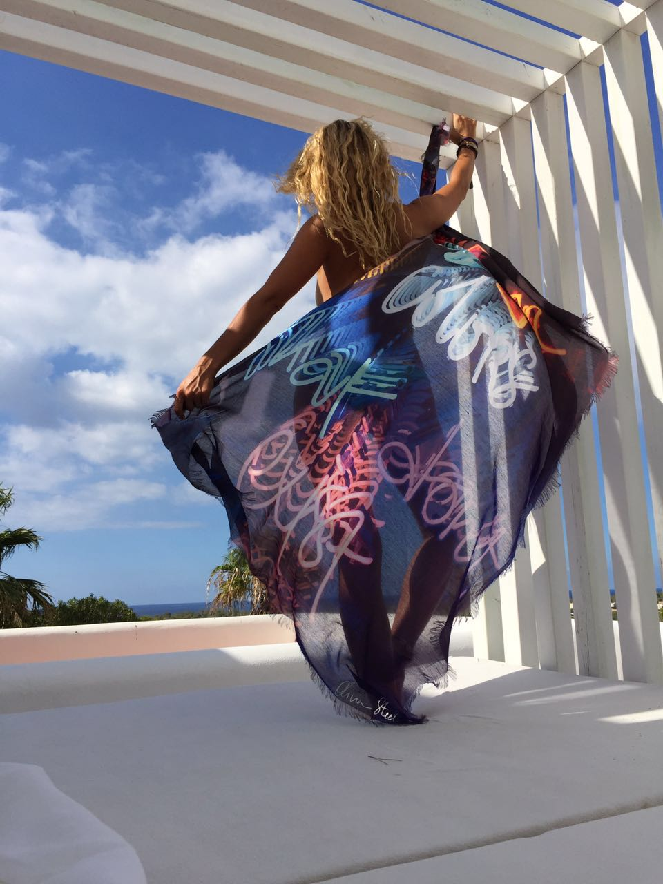 Olivia Steele Art Scarf I Dream Of You In Colors That Don't Exist