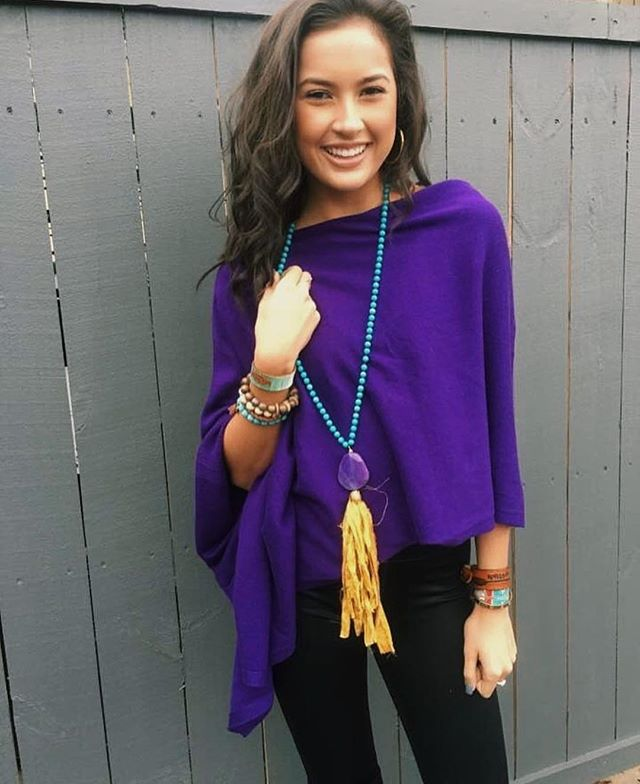 Look at the beautiful @hannahjcurry wearing in Julie Mayer Collection! #jewelry #accessories