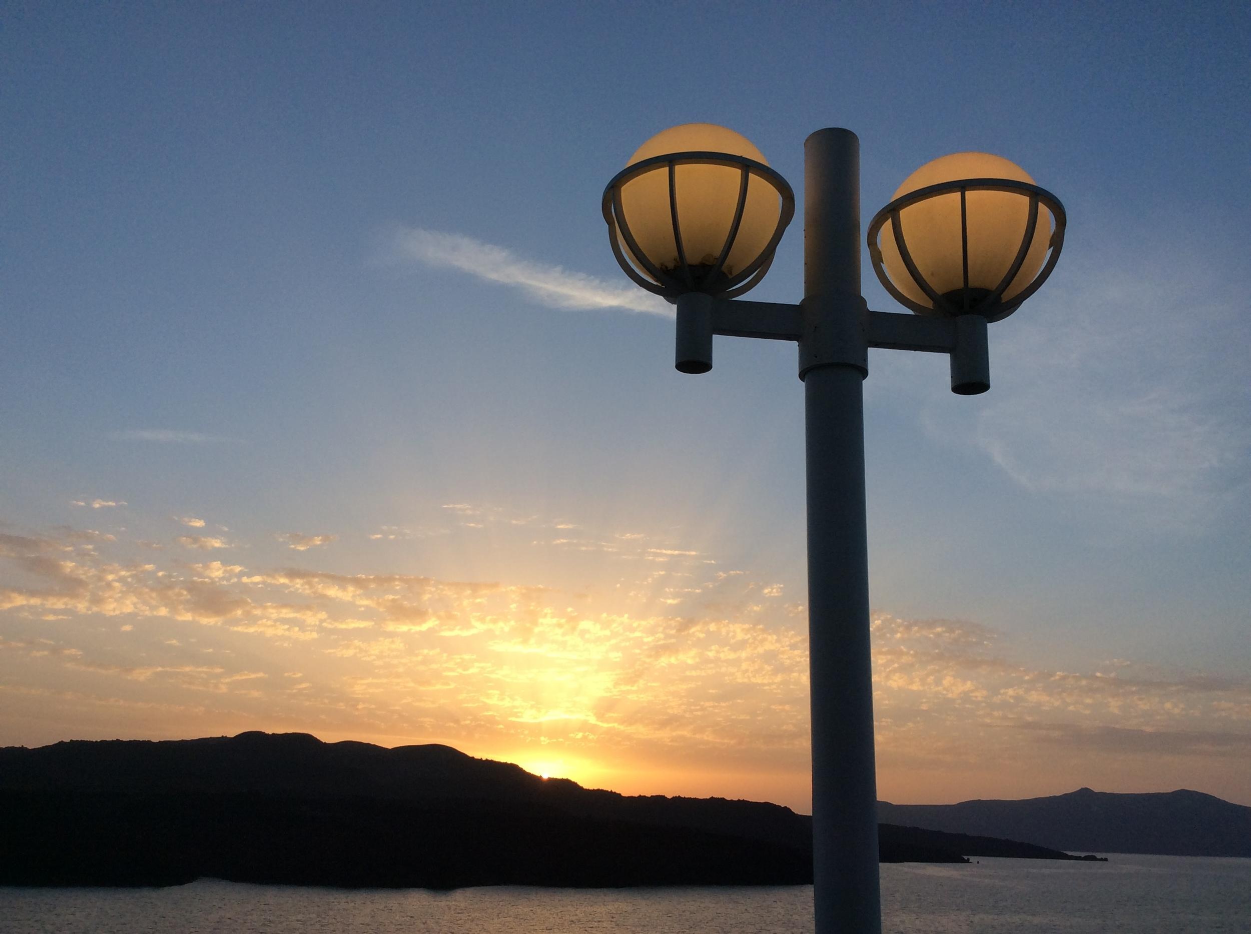 Sunset over the Greek Isles.JPG