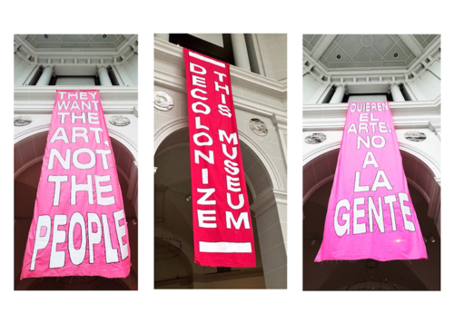 MTL+ action at the Brooklyn Museum, New York, April 29, 2018. Courtesy of MTL Collective