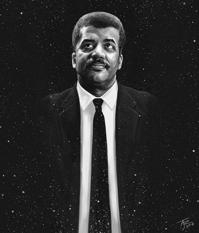 """""""If you want to assert a truth, first make sure it's not just an opinion that you desperately want to be true."""" - Neil deGrasse Tyson  #neildegrassetyson @neil.degrasse #science #illustration #quotestoliveby #art #portait"""
