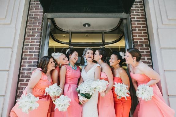 charleston-wedding-pink-bridesmaids-dresses-2