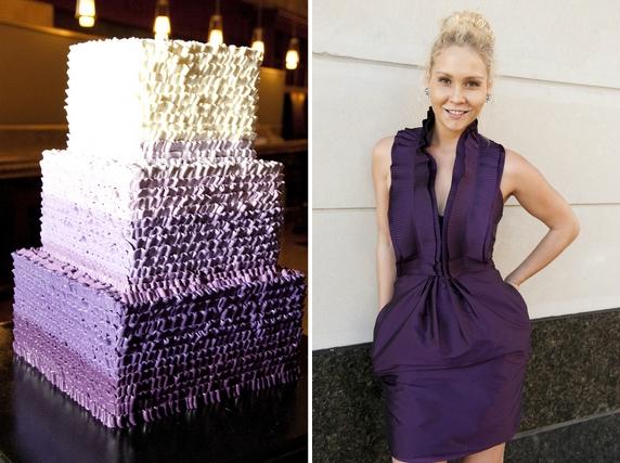 charleston-wedding-purple-cake-bridesmaids-dress