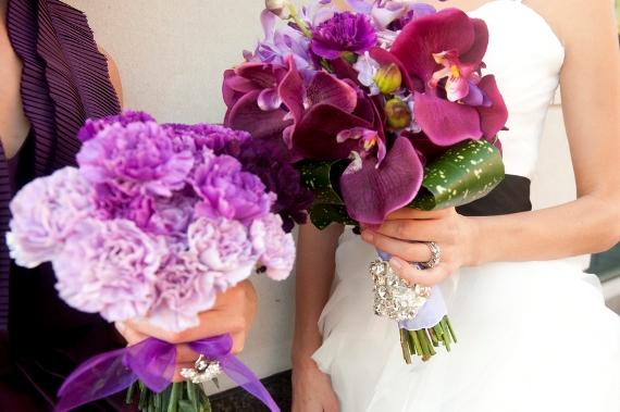 charleston-wedding-purple-orchid-bouquet