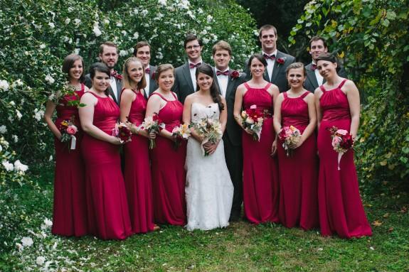 long-red-bridesmaids-dresses