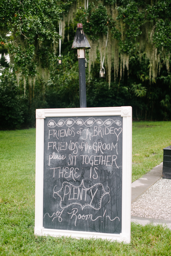 Charleston Wedding Chalkboard