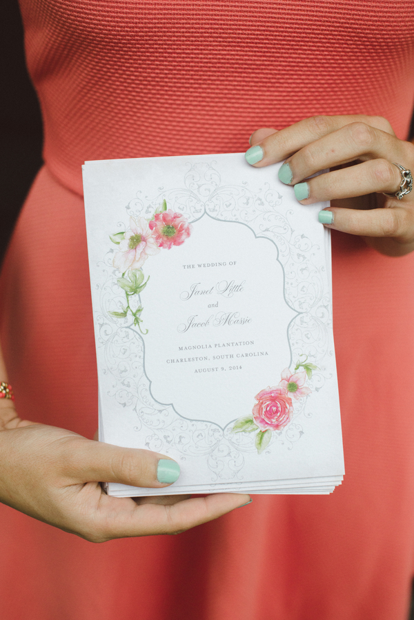 Charleston Wedding Invitation at Magnolia Plantation