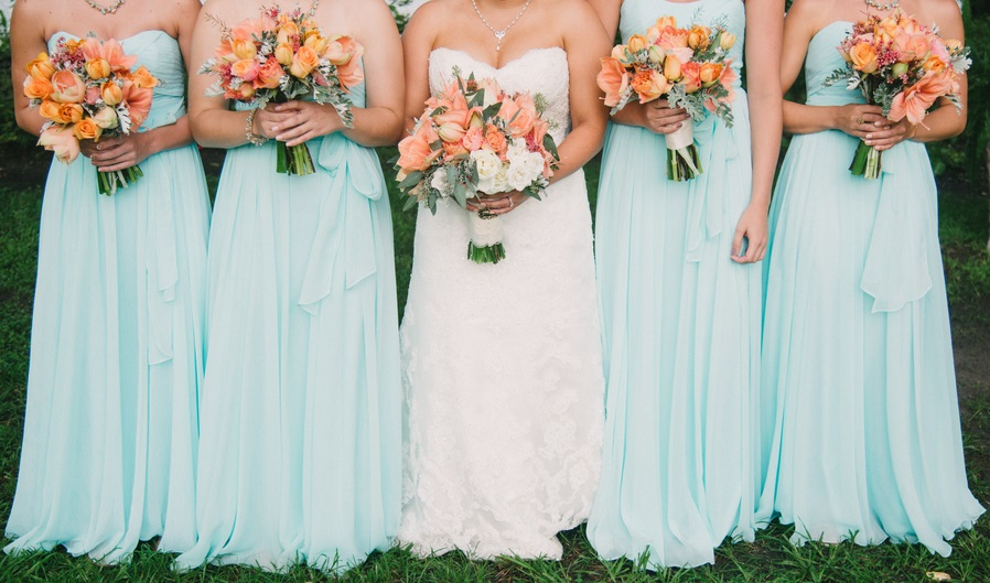 Mint Bridesmaids Dresses at Charleston Wedding