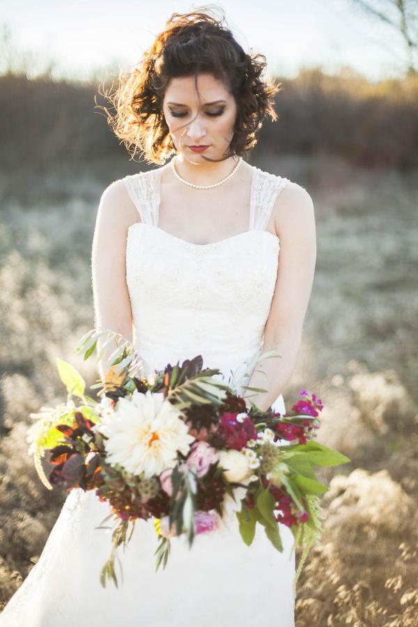Romantic Winter Wedding Inspiration - rustic purple details by Samantha McFarlane PhotographerRustic Glam Wedding Inspiration