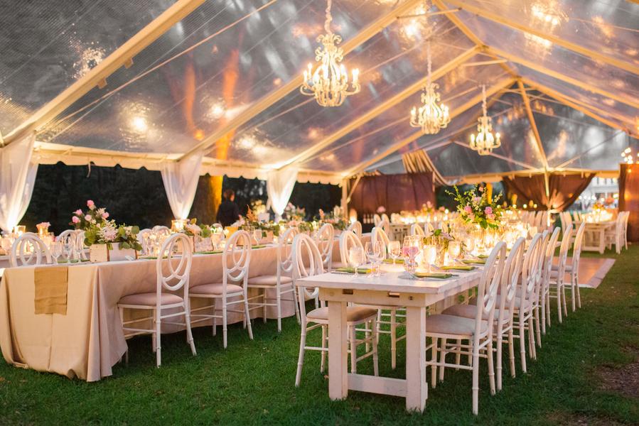 Clear wedding tent