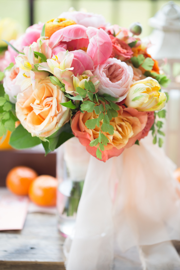 Pink & Orange Wedding bouquet