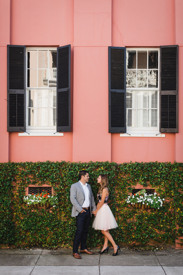 Downtown Charleston engagement photos by JoPhoto