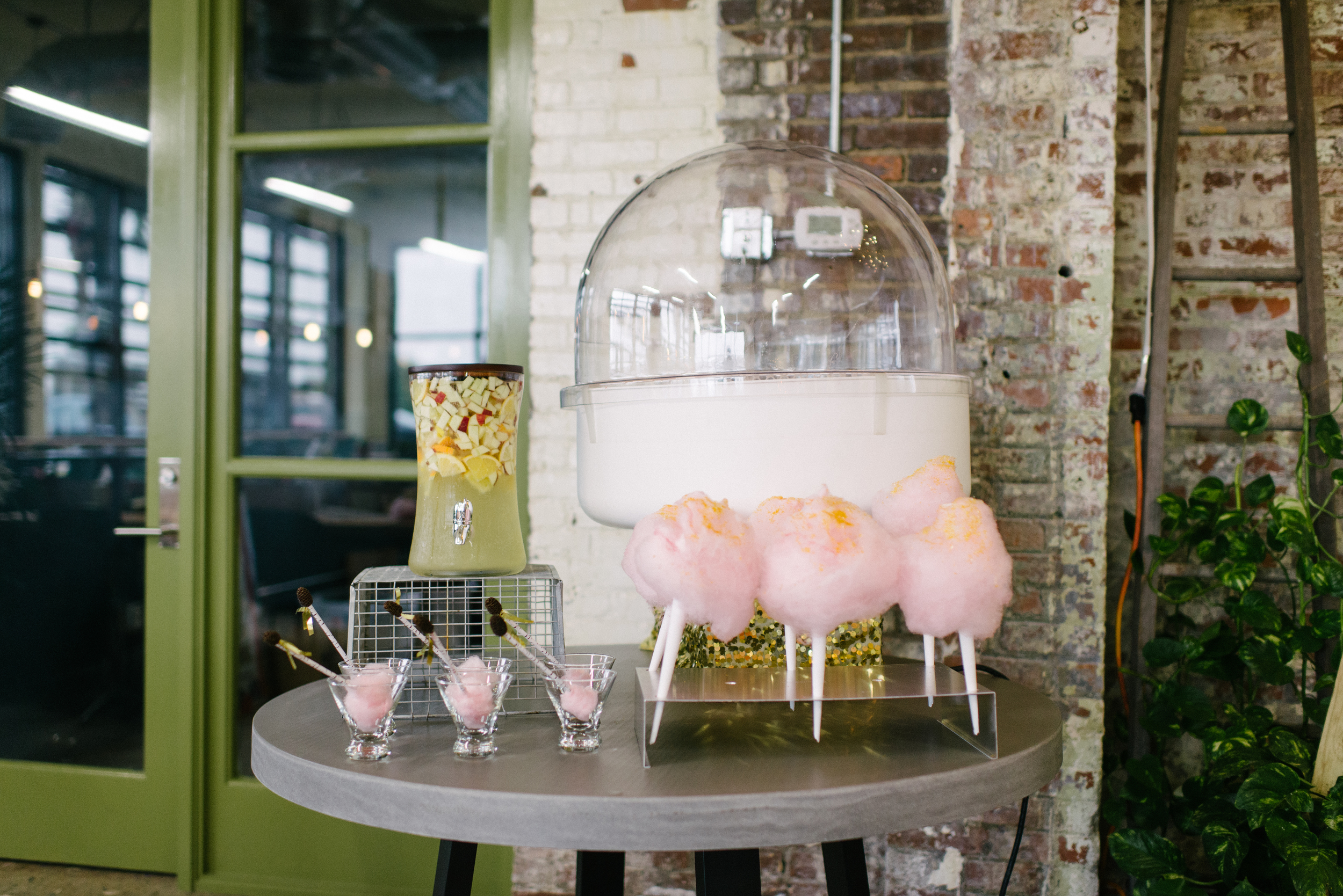Cotton Candy Station at Charleston Bachelorette Party Shoot by Pure Fluff Co, Party.Love.Birds